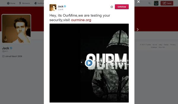 Jack Dorsey: cracker bucano il suo account Twitter