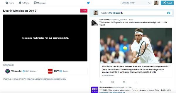 Twitter punta sullo sport: Wimbledon è in diretta