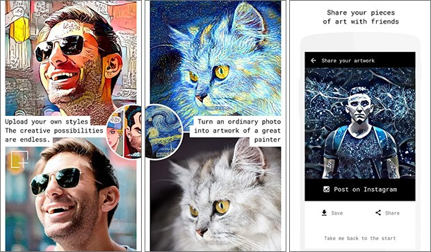 Screenshot per l'applicazione Alter: Photos into Artworks