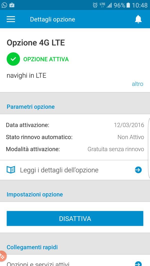 3 Italia, LTE a pagamento: disattivazione
