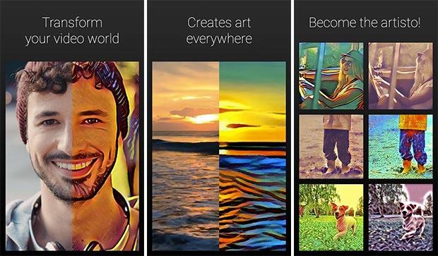 Screenshot per l'applicazione Artisto: Art Video Editor
