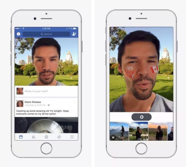Facebook: fotocamera con filtri in stile Snapchat