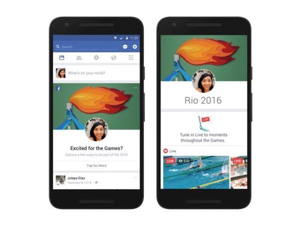 Facebook, nuove funzioni per le Olimpiadi