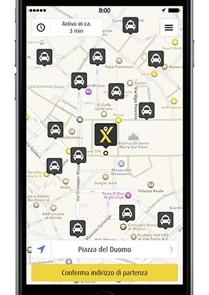 L'integrazione del servizio mytaxi nell'applicazione Google Maps