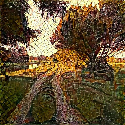 La foto di un tramonto elaborata con l'applicazione Alter