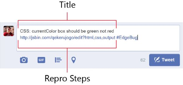 Microosft Edge, i bug si comunicano su Twitter