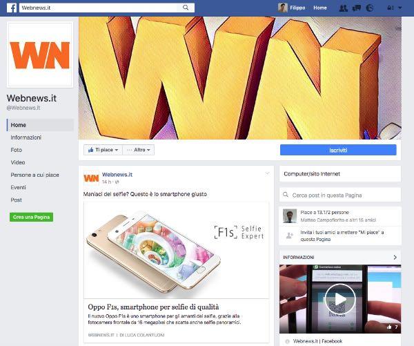 Facebook aggiorna il design delle Pagine