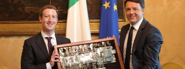 Mark Zuckerber e Matteo Renzi