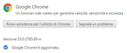 Il browser Chrome di Google è stato aggiornato alla versione 53