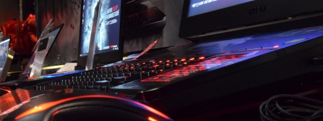 MSI gaming notebook VR-ready