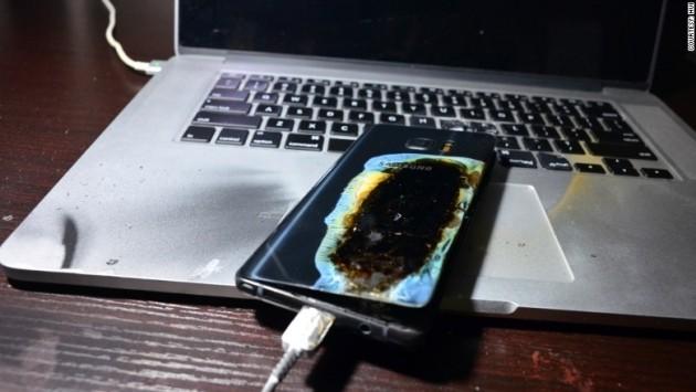Samsung Galaxy Note 7 esploso
