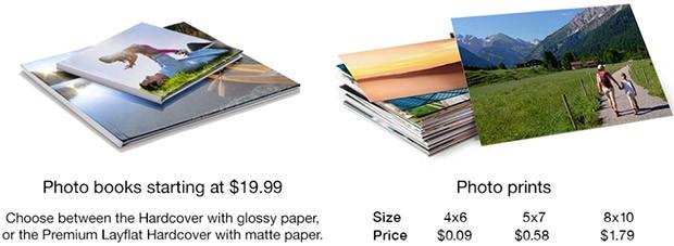 I prezzi delle stampe del servizio Amazon Prints