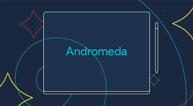 Uno schizzo mostra il possibile design del laptop Pixel 3 di Google, con pennino e sistema operativo Andromeda