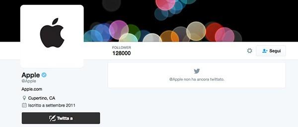 Apple su Twitter