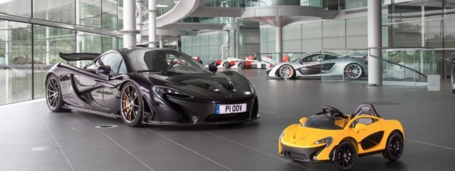 McLaren, la prima auto elettrica è per bambini