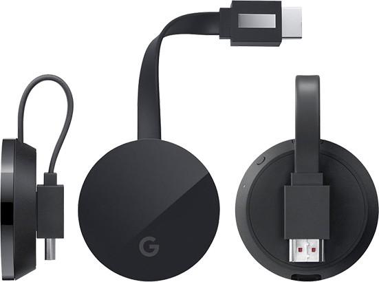 Un render per Chromecast Ultra, la versione 4K del dongle HDMI di Google