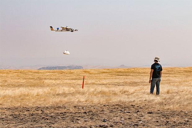 Uno dei droni di Project Wing in fase di test