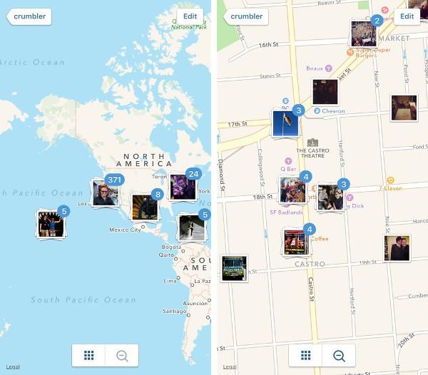 Instagram rimuove le mappe fotografiche
