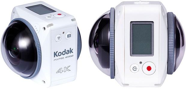 Kodak 4KVR360, videocamera per registrare filmati a 360 gradi