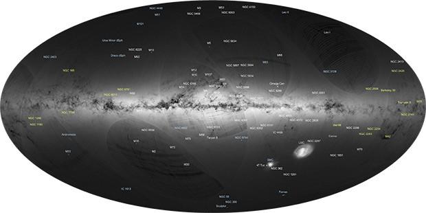 La mappa della Via Lattea elaborata dall'European Space Agency
