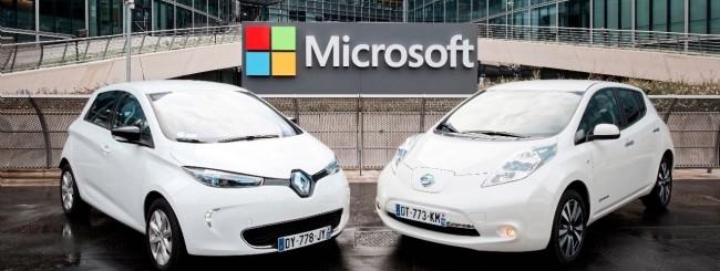 Microsoft con Renault e Nissan per l'auto connessa