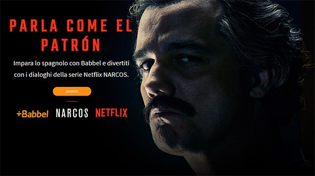 Netflix e Babbel aiutano a imparare lo spagnolo, con il cast della serie Narcos