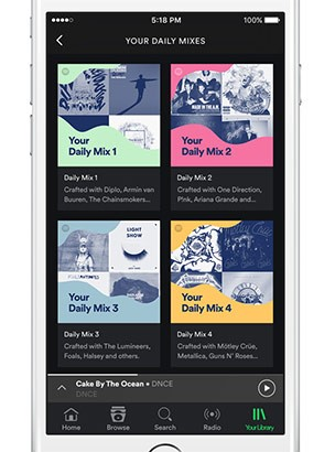 Spotify Daily Mixes