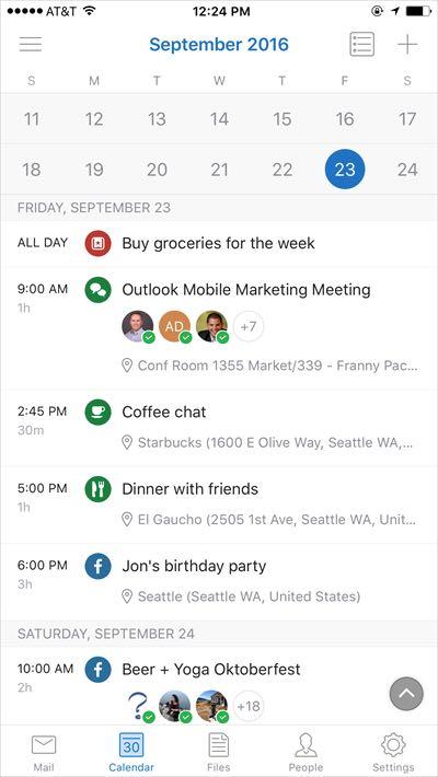 Outlook guadagna le funzionalità di Sunrise