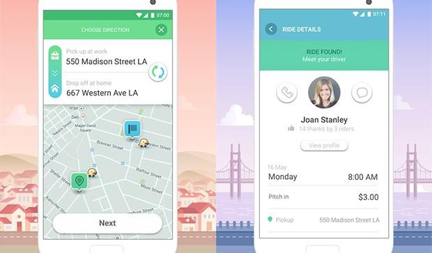 Screenshot per l'applicazione Waze Rider
