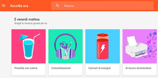 Le playlist contestuali di Google Play Musica debuttano finalmente anche in Italia