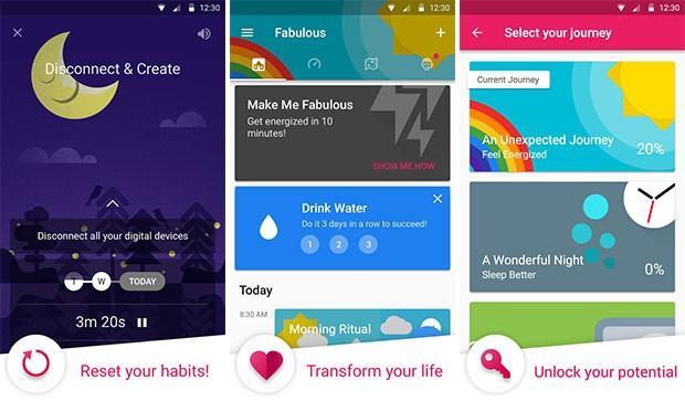 Screenshot per l'applicazione Fabulous - Motivate Me!