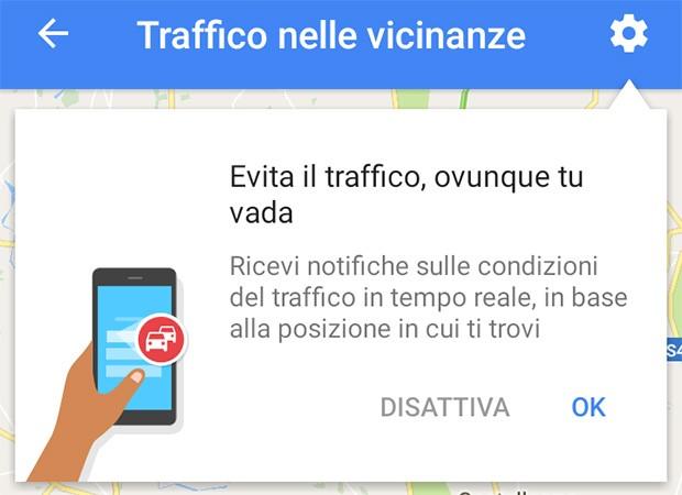 La nuova funzionalità introdotta da Google Maps mostra informazioni sul traffico nelle vicinanze, in tempo reale e in modo del tutto automatico