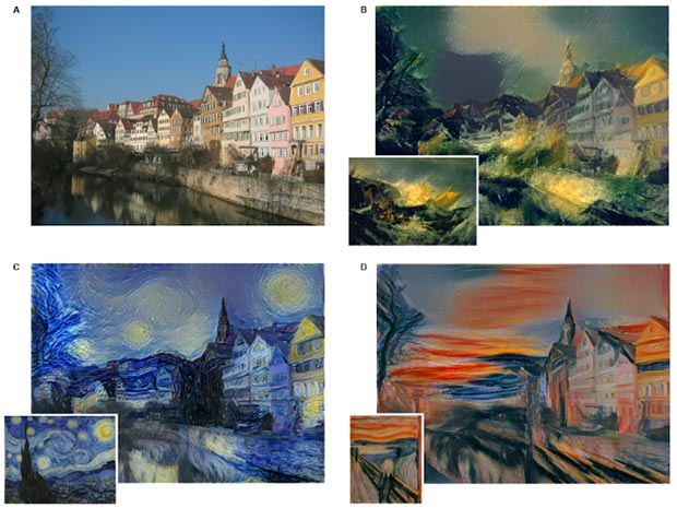 Un'immagine e la sua elaborazione in chiave pittorica sfruttando algoritmi e intelligenza artificiale
