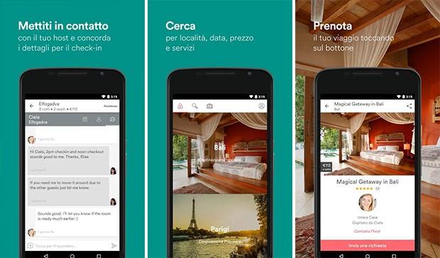 Screenshot per l'applicazione Airbnb