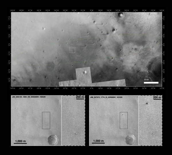 Exomars, l'impatto a 300 Km/h della Schiaparelli