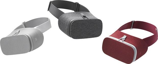 Il visore Daydream View di Google nelle sue tre colorazioni