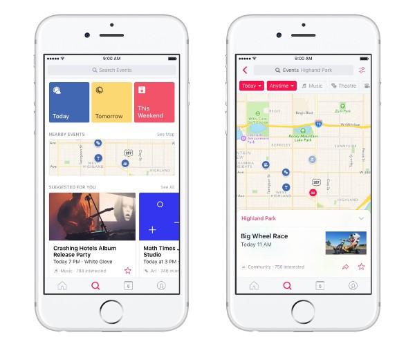 Facebook lancia un'app per gestire gli eventi