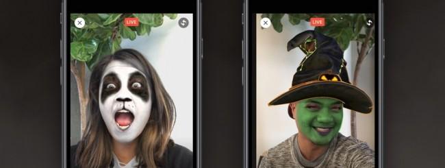 Facebook Live: arrivano le maschere per Halloween