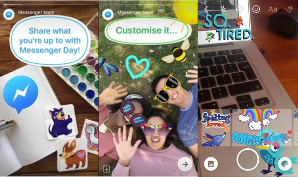 Facebook Messenger, storie in stile Snapchat