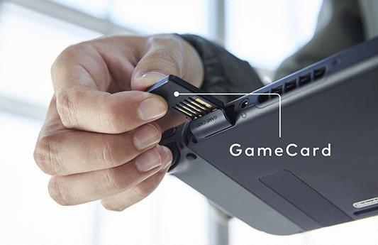 Le cartucce GameCard utilizzate dalla console Nintendo Switch