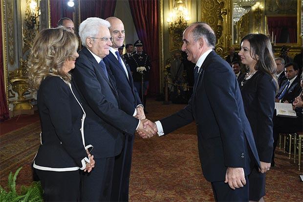 Il Presidente della Repubblica Sergio Mattarella alla cerimonia di premiazione degli Eni Award 2016