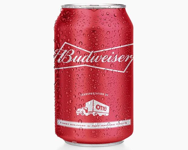 Una lattina di Budweiser celebrativa, dedicata alla tecnologia self-driving di Otto applicata al trasporto merci su mezzi pesanti