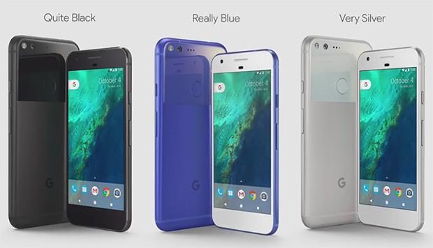 Le tre colorazione degli smartphone Google Pixel