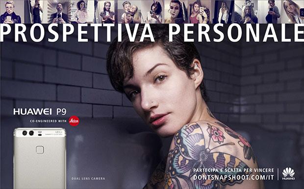 Il manifesto del concorso Prospettiva Personale indetto da Huawei