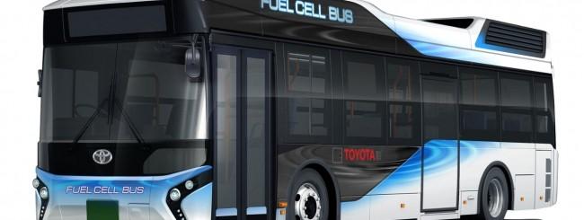 Toyota svela il suo bus ad idrogeno