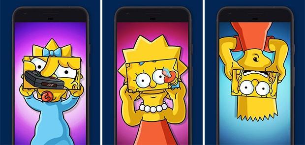 Screenshot per l'applicazione Google Spotlight Stories e per l'esperienza dedicata ai Simpsons