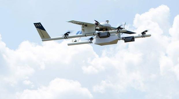 Un drone di Project Wing durante un volo di prova