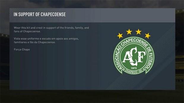 La divisa del Chapecoense è disponibile per tutti, gratuitamente, in FIFA 17 Ultimate Team