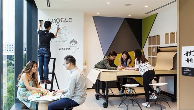 Uno spazio inaugurato da Google nei suoi nuovi uffici a Singapore