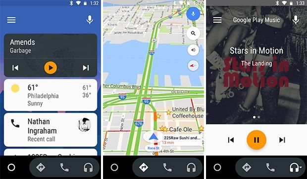 Screenshot per l'app Android Auto, ora disponibile in versione stand alone